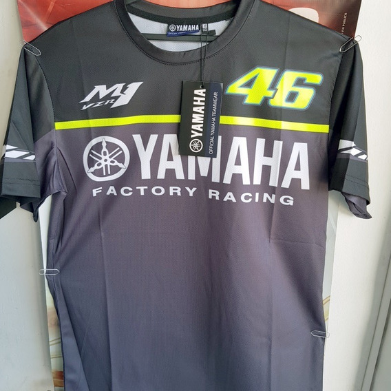 Valentino Rossi VR46 Moto GP M1 Yamaha Factory Racing Maglietta Ufficiale 2019