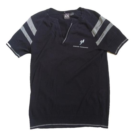 Playera Armani Exchange Original Slim Fit Tipo Polo Sweater
