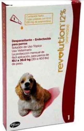 Pipetas Revolution Rojo  Perros 10 A 20 Kg. 24 D