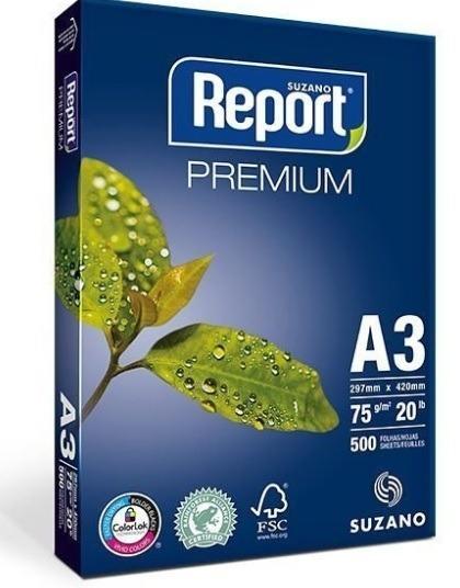 Papel A3 75g 297x420 500fls Report Premium