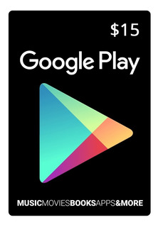 Tarjeta Google Play 15 U$ Usa   Entrega Inmediata- Gamer24hs