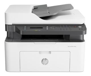 Impresora multifunción HP LaserJet 137FNW con wifi 110V/240V blanca y negra