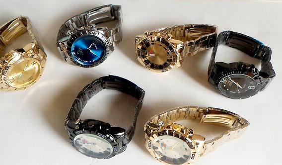 Kit C/ 6 Relógios Masculinos De Aço P/ Revenda Varias Cores