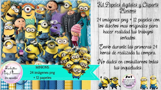 Papeles Fondos Y Cliparts Imagenes Png Minions