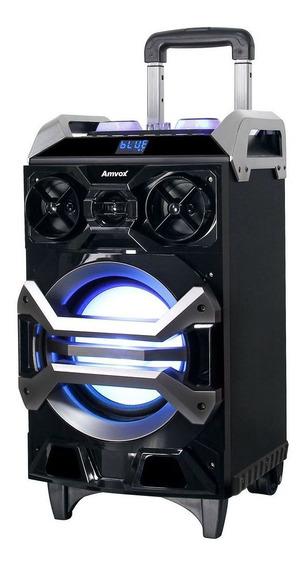 Caixa Som Bluetooth Usb Aux Potente Bateria Amplificada 200w