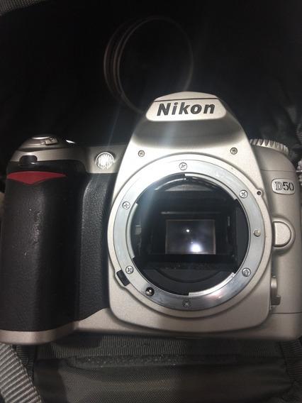 Nikon D50 Corpo Com Bateria E Alça