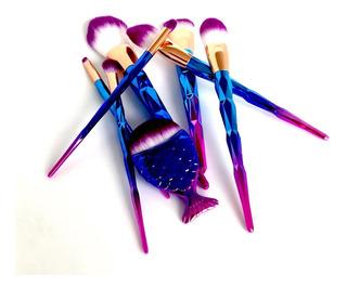 Set De 8 Brochas De Maquillaje Profesionales Extra Suaves