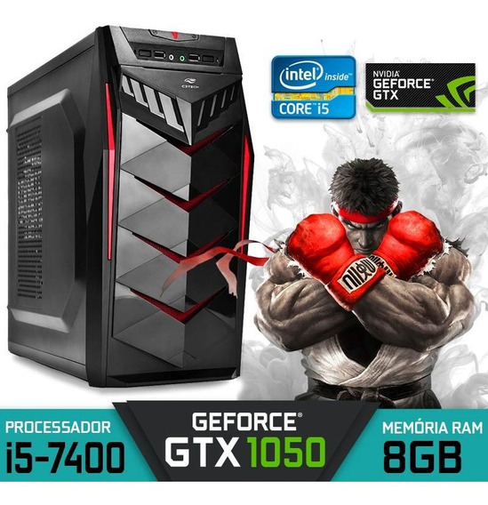 Computador Gamer Core I5-7400 Ram 8gb Gtx 1050 Hd 1tb Win 10