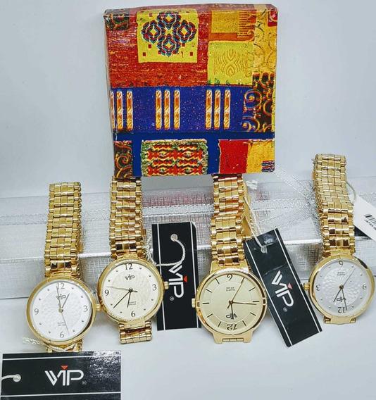 Relógios Vip Feminino Folheado A Ouro 18k