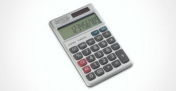 Calculadora Pequena 12 Dígitos Cc1001 Cinza Brw