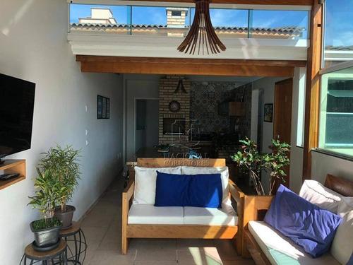 Cobertura Com 2 Dormitórios À Venda, 140 M² Por R$ 520.000,00 - Parque Das Nações - Santo André/sp - Co5183