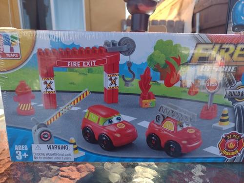Set De Bloques De Construcción Rescate Fuego