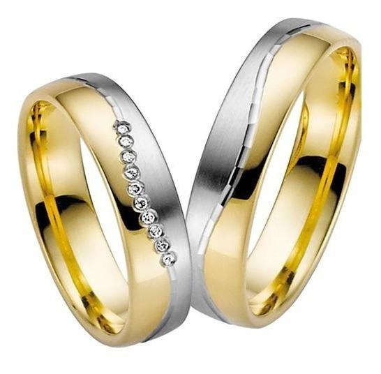 Par Alianças Casamento 6mm Ouro 18k Prata 950 Fosca Wmjóias
