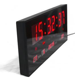 Relógio Led De Parede Digital Termômetro Alarme Calendário