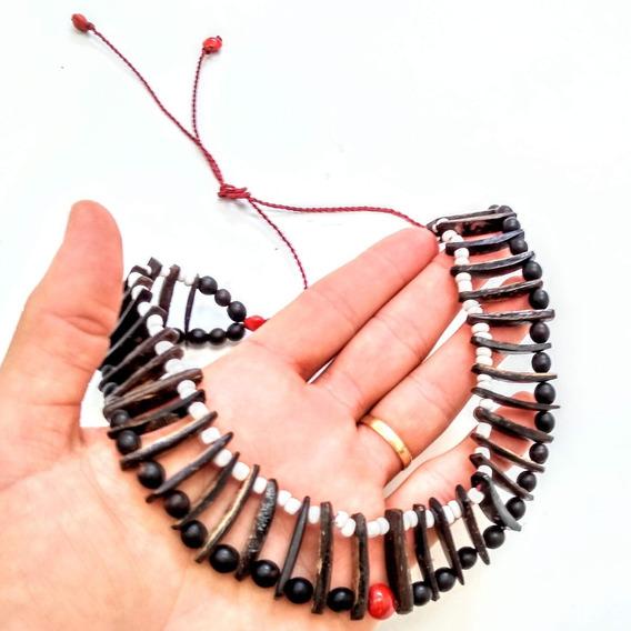Colar Boa Energia Amuleto Indígena Umbanda Xamânico 2