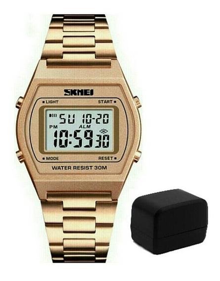 Relógio Skmei 1328 Masculino Esportivo Digital Pulseira Aço