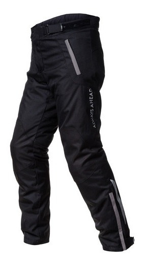 Pantalon Moto Cordura Ls2 Chart Negro Protecciones Ajustable