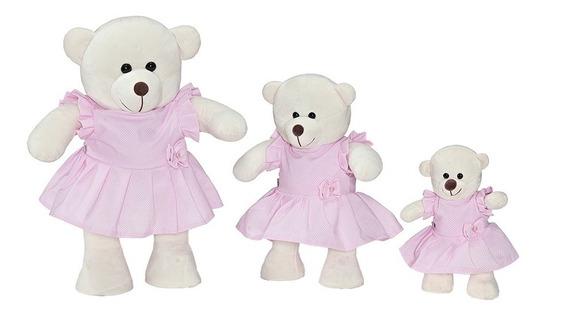 Trio De Urso Menina Para Nicho Ou Decoração De Quarto Bebê