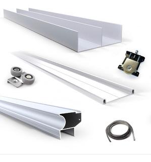Kit De Aluminio Anod. Integral De Placard 2.6x3mt -3 Puertas