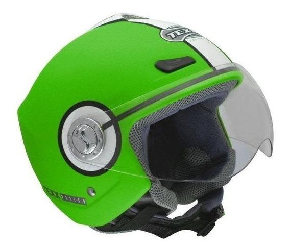 Capacete Aberto Texx Arsenal Verde