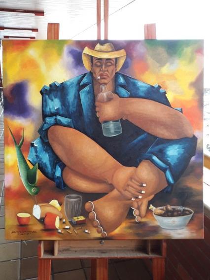 Pintura Óleo Sobre Tela O Bêbado
