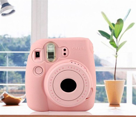 Capa Case Protetoção Camera Fuji Fujifilm Instax Mini 8 Rosa