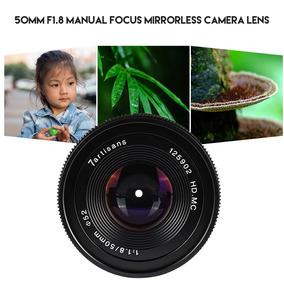 Abertura Grande Lente Câmera Foco Manual De 7artisans 50mm 7