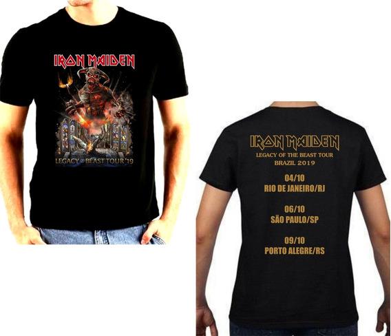 Camiseta Iron Maiden Legacy Of The Beast Tour Brazil 2019
