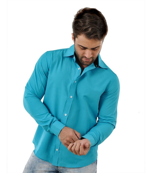 Camisa Slim Masculina Preço De Atacado Promoção Tricoline