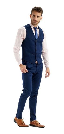 Chaleco Con Chupín Y Zapatos De Vestir Hombre Import Usa