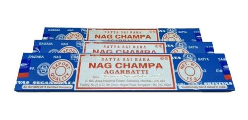 Imagem 1 de 4 de Incenso Indiano Nag Champa Satya Sai Baba 3cxd15gr+binde