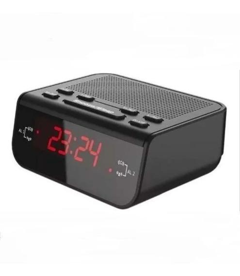 Rádio Relógio Despertador Digital Mesa Lelong 671 Am Fm Pre