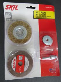 Kit Skil Para Afiar Desbastar Limpar (p/ Usar Em Furadeira)