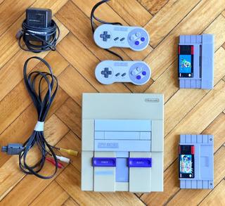 Consola Super Nintendo Snes Completa Funcionando C/ 2 Juegos