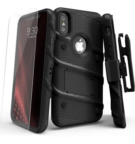 Case iPhone XR Xs Max Grado Militar Funda + V.templado Zizo