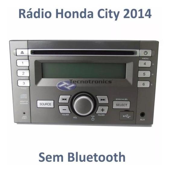 Auto Rádio Honda Fit 2014 Original Clarion Cinza