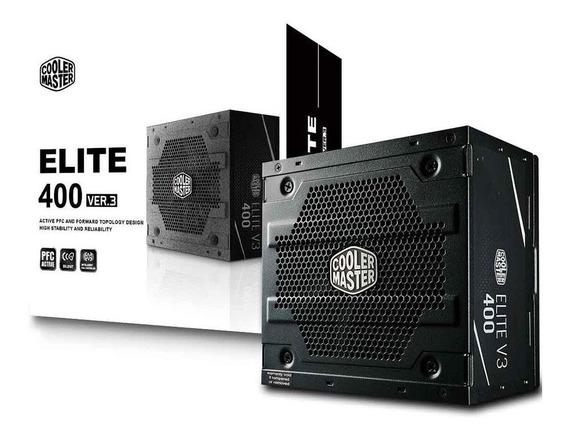 Fonte 400w Cooler Master Elite V3 Pfc Ativo S/ Cabos Bivolt