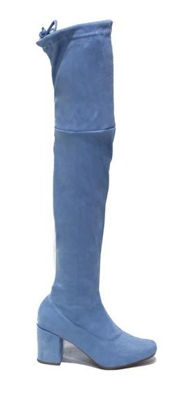 Zapato De Mujer Bucanera Caña Alta Taco Cuadrado Alessandra