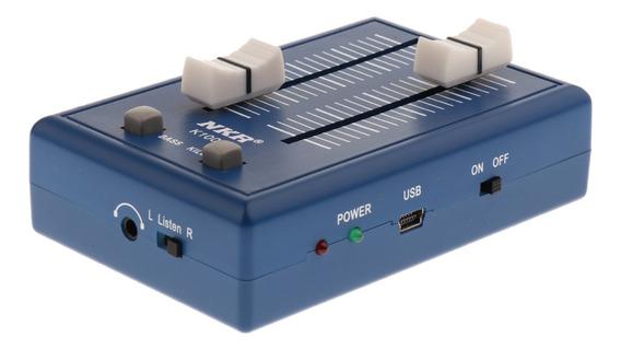 Amplificador De Áudio Usb Profissional Conectando Telefone