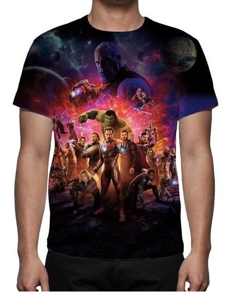 Camisa Camiseta Vingadores Guerra Infinita Mod 11 - Promoção