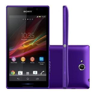 Celular Sony C C2304 Xperia C Tela 5 4gb 8mp Roxo