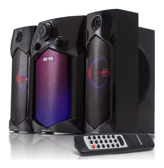 Home Theater 2.1 Sistema Som 60w Portátil Bluetooth Subwoofer Mp3 Usb Pc Tv