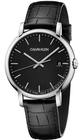 Reloj Calvin Klein Established K9h211c1 De Hombre Piel Negro