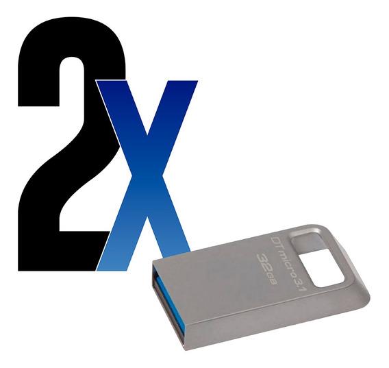 Pen Drive Usb 32gb Micro 3.1 Datatraveler Kingston 2un