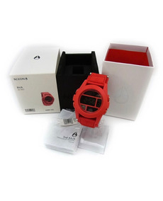 Relogio Nixon Unit The Baja All Red A489 191! Ninguem Tem !