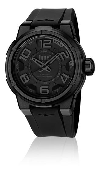 Relógio Masculino Everlast Esporte E683 48mm Silicone Preto
