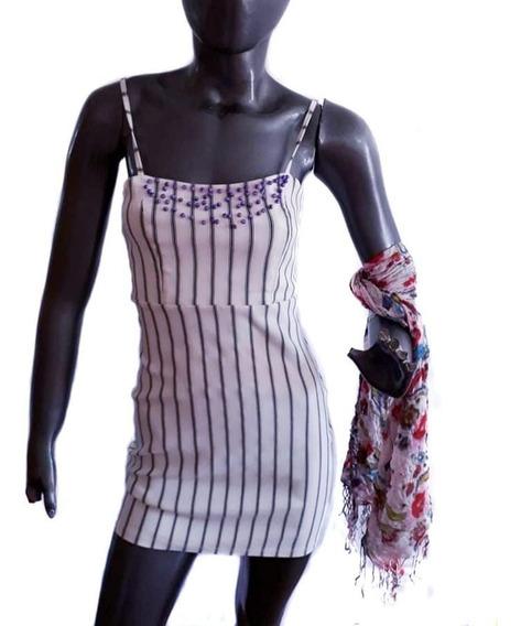Vestido Fiesta Corto Salir Mujer Bordado