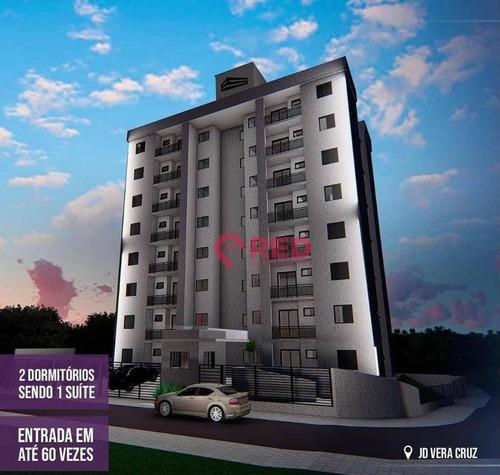 Apartamento Residencial Versalhes Com 2 Dormitórios À Venda, 59 M² Por R$ 229.900 - Jardim Vera Cruz - Sorocaba/sp - Ap0266