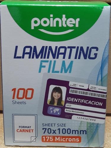 Laminas De Plastificar Tipo Carnet PointerVenta X 2 Cajas