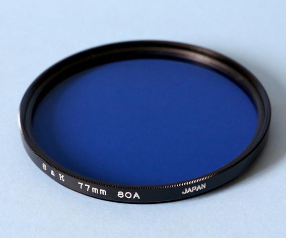 Filtro 80a 77mm S&k Azul Corrige Amarelo Lentes Canon Nikon